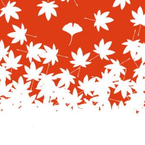 tsukigoya てぬぐい 赤版/橙版 fall and kitakamakura (c)Argyle design
